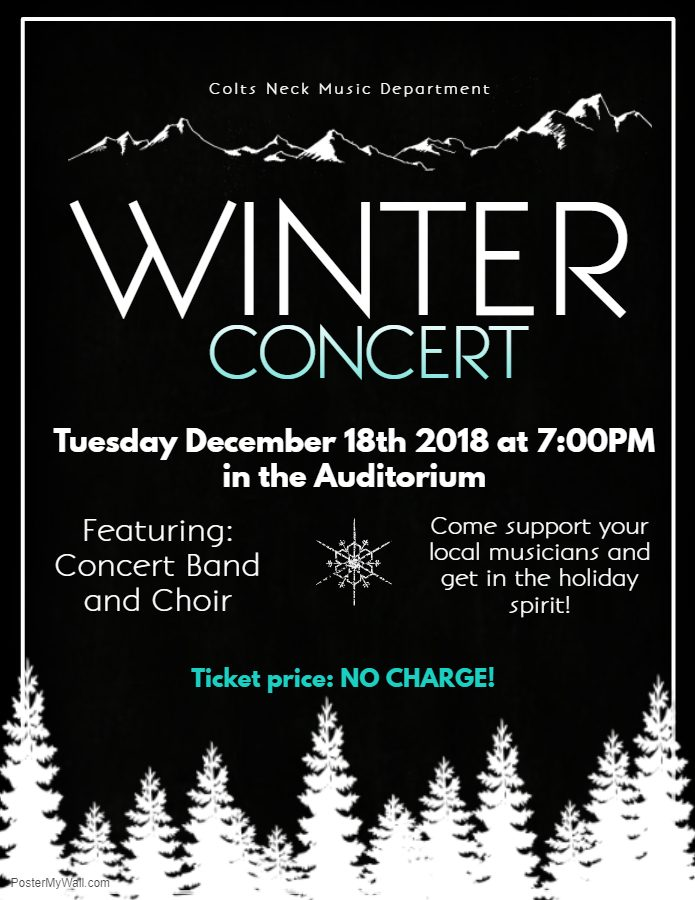Come Support the Colts Neck Music Department at the Winter Concert!